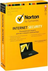 Антивирус Norton Internet Security 2013 RU лицензия на 1 год на 3ПК